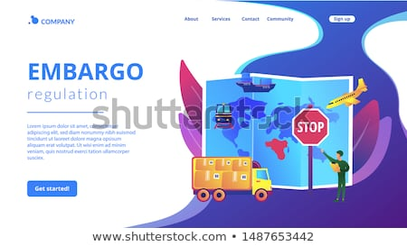 Regulação aterrissagem página produtos transporte bens Foto stock © RAStudio