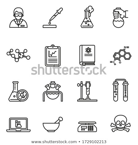 Medical test tube icon, flask icon. Stock Vector illustration isolated on white background. Stock photo © kyryloff