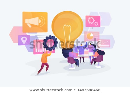 Marketing Strategy Meeting and Discussion Vector Stock photo © robuart
