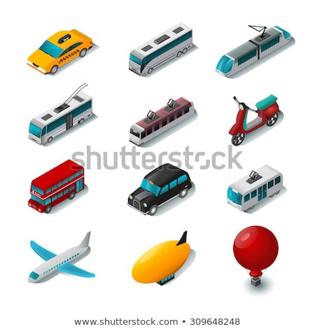 Public Transport Rickshaw isometric icon vector illustration Stock photo © pikepicture