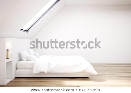 wygodny · poduszki · biały · bed · dekoracji · sofa - zdjęcia stock © ansonstock