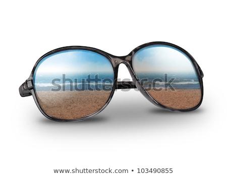 zand · bril · geïsoleerd · wit · zand · witte - stockfoto © tetkoren