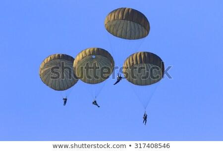 Parachute trooper Stock photo © pixpack