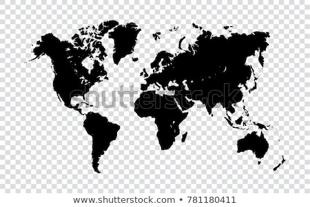 World on black background Australia & Asia Stock photo © fenton