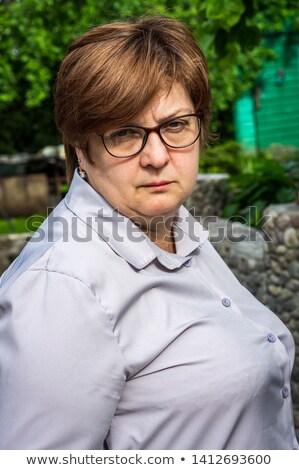 deprimido · triste · mulher · branco · mãos · cabelo - foto stock © dacasdo