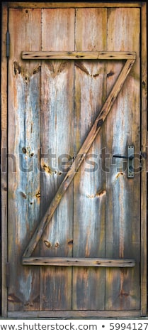 Vecchio marcio porta dettaglio arrugginito gestire Foto d'archivio © smithore