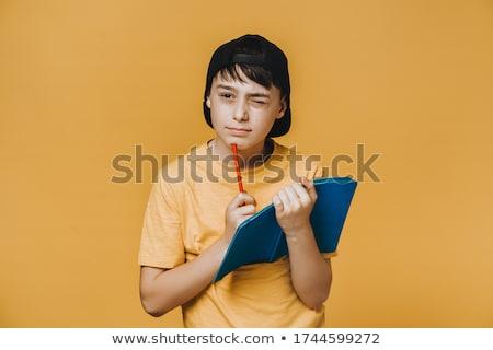 интеллектуальный · мальчика · очки · лице · счастливым · глазах - Сток-фото © lovleah