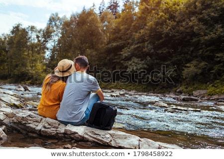 çift su adam yaz gülen tatil Stok fotoğraf © photography33