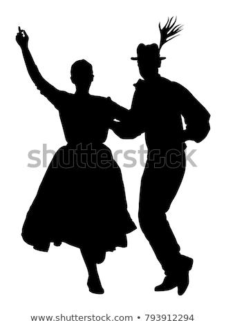 танцоры девочек вместе черный театра Сток-фото © digoarpi