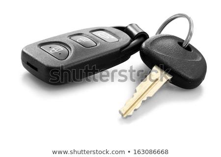автомобилей ключевые белый изолированный блокировка стали Сток-фото © DedMorozz