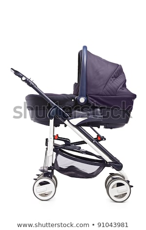 A modern pram isolated against a white background Stock photo © ozaiachin