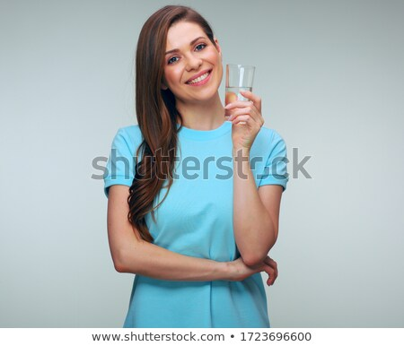 Morena vidrio agua mujer cielo Foto stock © photography33