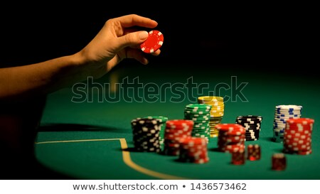 woman and gambling chips Stock photo © imarin