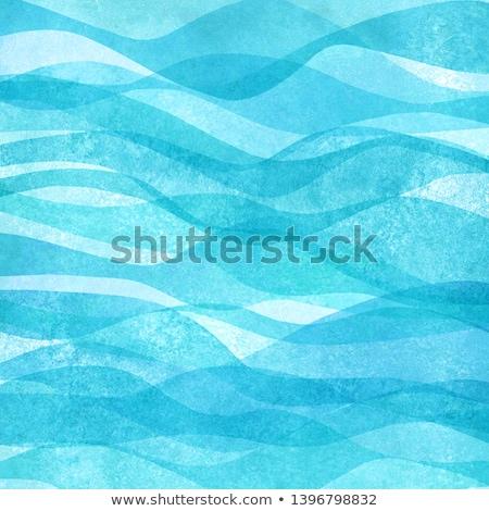 Stok fotoğraf: Suluboya · deniz · afiş · el · yapımı · su