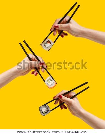 Японский · суши · продовольствие · ресторан · зеленый · повар - Сток-фото © simpson33