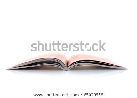 heap of open magazines Stock photo © neirfy