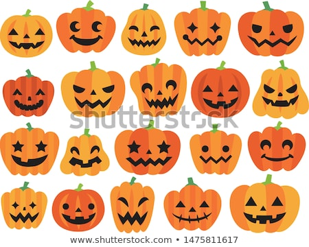 Vector Illustration of Scary Jack O Lantern Stock photo © indiwarm