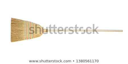 cabo · de · vassoura · isolado · branco · casa · limpar · escove - foto stock © ozaiachin