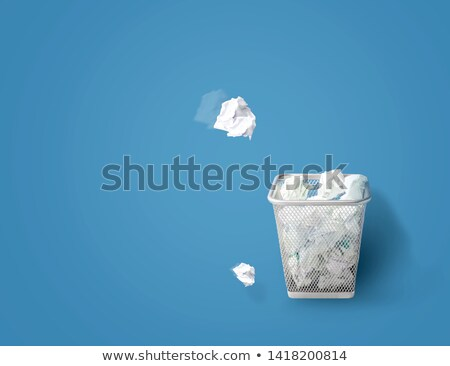 szemeteskuka · levelek · 3D · renderelt · fehér · árnyék - stock fotó © garyfox45116