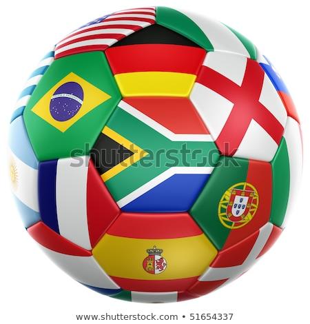 Futbol dünya fincan 2010 ayakkabı bayrak Stok fotoğraf © joker