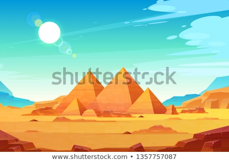 Tombs in the desert Stock photo © bbbar