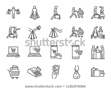 男 手 ショッピングカート アイコン 画像 ストックフォト © vlad_star