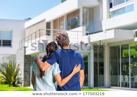 couple standing outside a building Stock photo © photography33