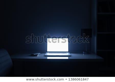 laptop · escuro · ver · espaço · computador · internet - foto stock © fenton
