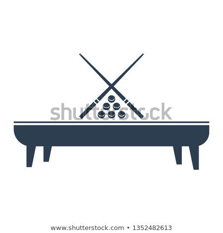 Billiards Eightball Tribal Graphic Image Stock photo © chromaco