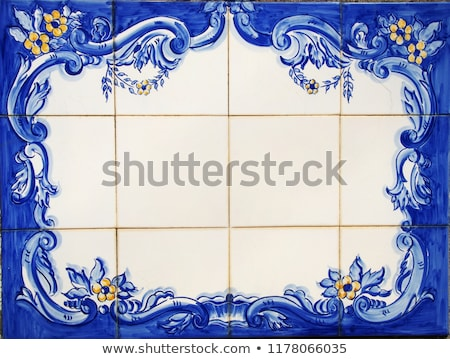 Portuguese tile plaque on street Stock photo © inaquim