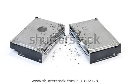 sabit · disk · sürmek · beyaz · bilgisayar · bilgi · veri - stok fotoğraf © prill