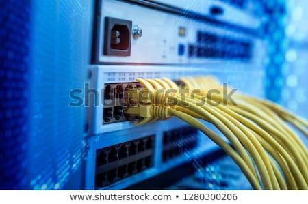 kırmızı · ağ · kablo · gölge · beyaz · sığ - stok fotoğraf © broker