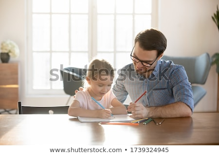 Father and daughter painting Stock photo © photography33