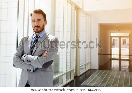 Büszke üzletember üzlet tulajdonos komoly portré Stock fotó © feedough