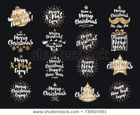 ストックフォト: セット · クリスマス · 背景 · ギフト · 古い紙