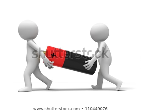 3d small people - battery Stock photo © AnatolyM