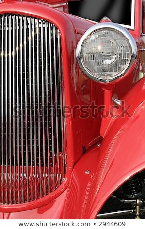 Ralli ikiz klasik kırmızı araba ışık Stok fotoğraf © Anterovium