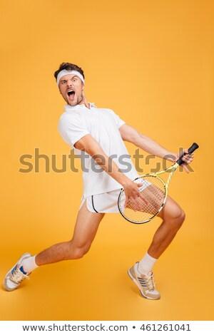 Vicces teniszező vektor rajz különböző sport Stock fotó © pcanzo