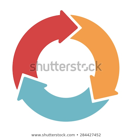 Arrows in Circle in 3 Colors Sets stock photo © liliwhite