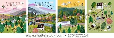 山 自然 チャペル 家 風景 緑 ストックフォト © glorcza