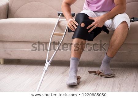 Trauma of knee in brace. Stock photo © papa1266