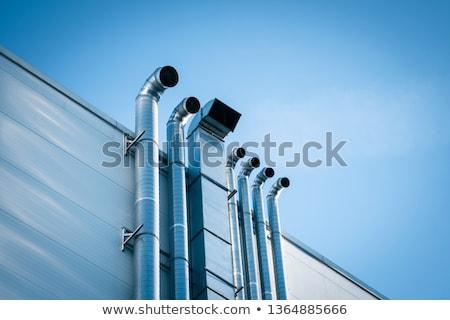 Ventilatie pijpen moderne metalen bouwplaats Stockfoto © Stocksnapper