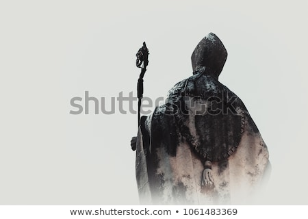 Pápa sziluett kéz galamb béke ima Stock fotó © adrenalina