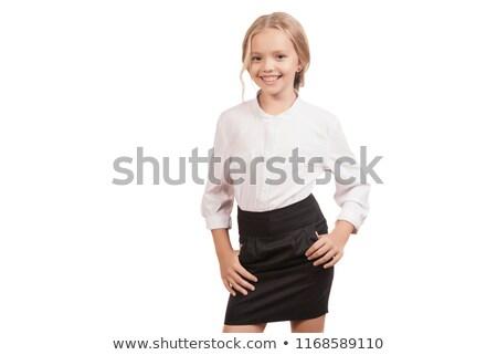 bonitinho · sorridente · branco · mulher · menina - foto stock © dash