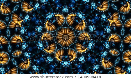 Bağbozumu mavi kaleydoskop soyut süs Stok fotoğraf © marinini