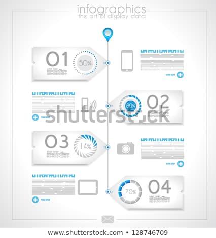 Infografica design prodotto originale carta Foto d'archivio © DavidArts