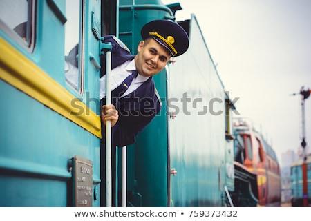 Train conductor Stock photo © artisticco