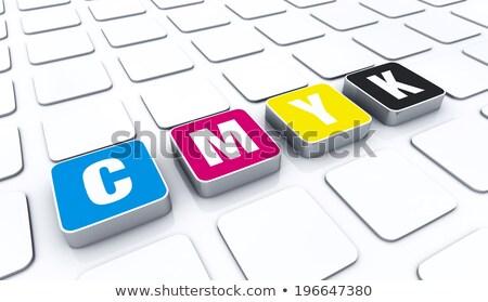 printer rgb color cubes Stock photo © alexmillos