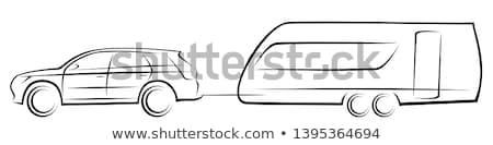 キャラバン 図面 実例 車 孤立した 白 ストックフォト © nikdoorg