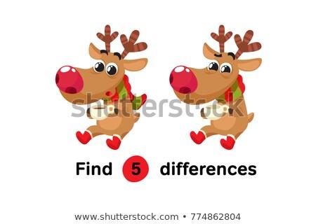 deer puzzle vector background stock photo © krabata
